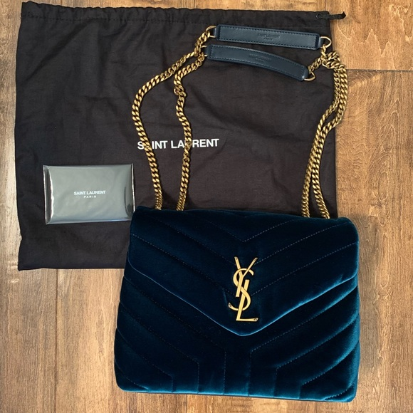 650ed1f5797a YSL Saint Laurent Small Loulou Velour Shoulder Bag.  M 5c1933d54ab6333928330215
